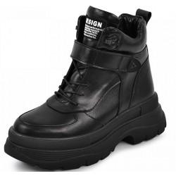 шкіряні зимові черевики 2119