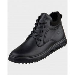 зимові шкіряні черевики 7113
