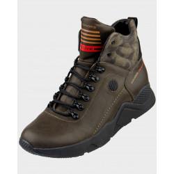 зимові шкіряні кросівки 7117